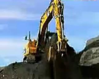 现代挖掘机超强悍的表演